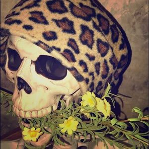 Women's Leopard Print Cloche Hat
